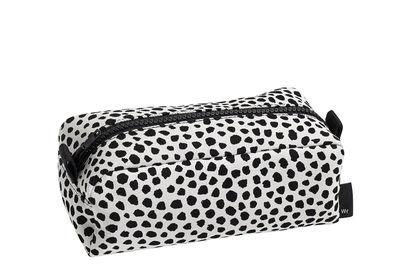 Accessoires - Sacs, trousses, porte-monnaie... - Trousse Dot Small / L 18 cm - Hay - Blanc / Pois noirs - Coton, Polyester