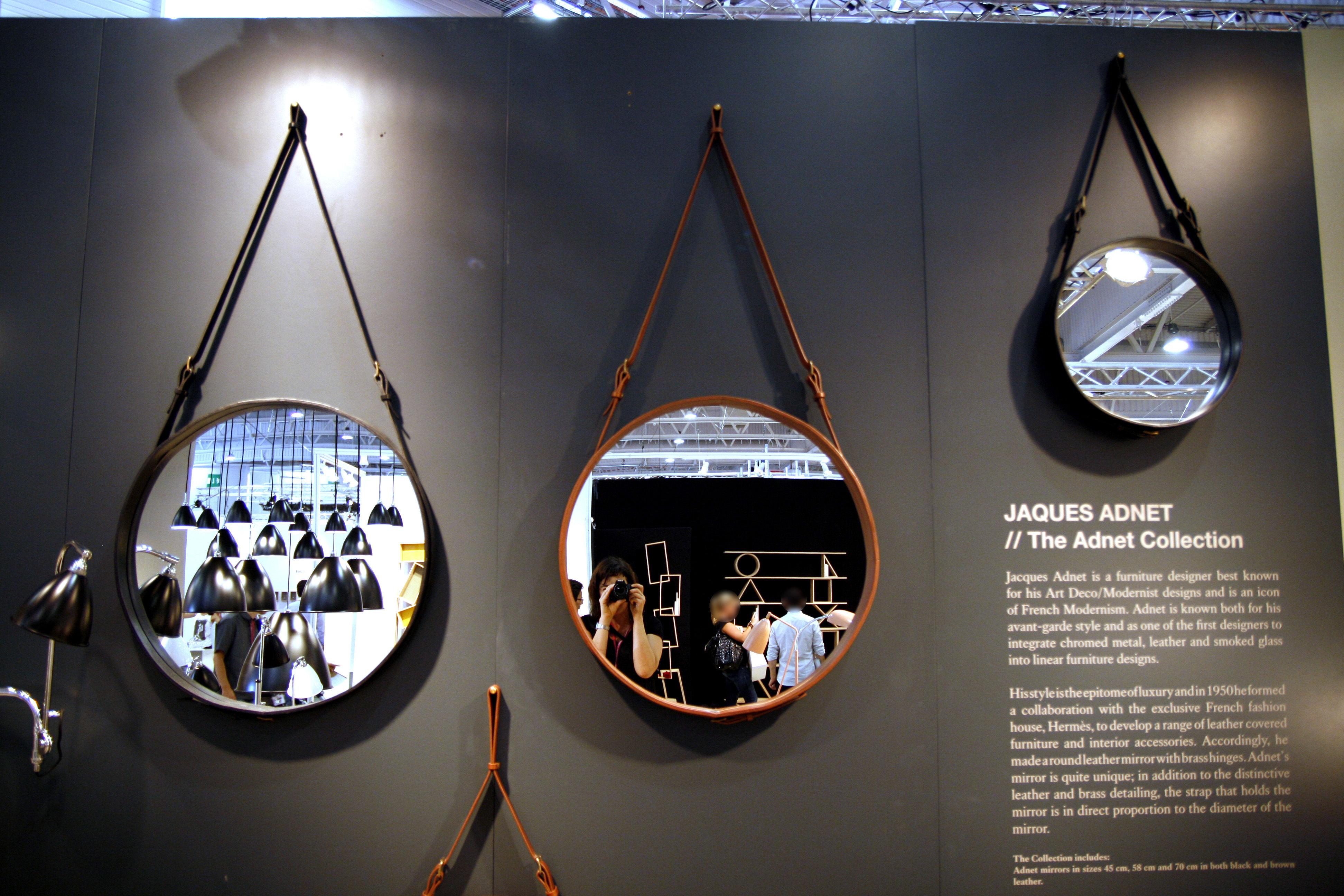 Miroir mural adnet 45 cm r dition 50 39 noir gubi for Miroir 50 x 50 cm