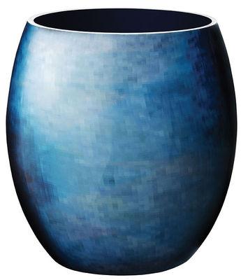 Vase Stockholm Horizon Medium Modèle d'expo Stelton bleu en métal