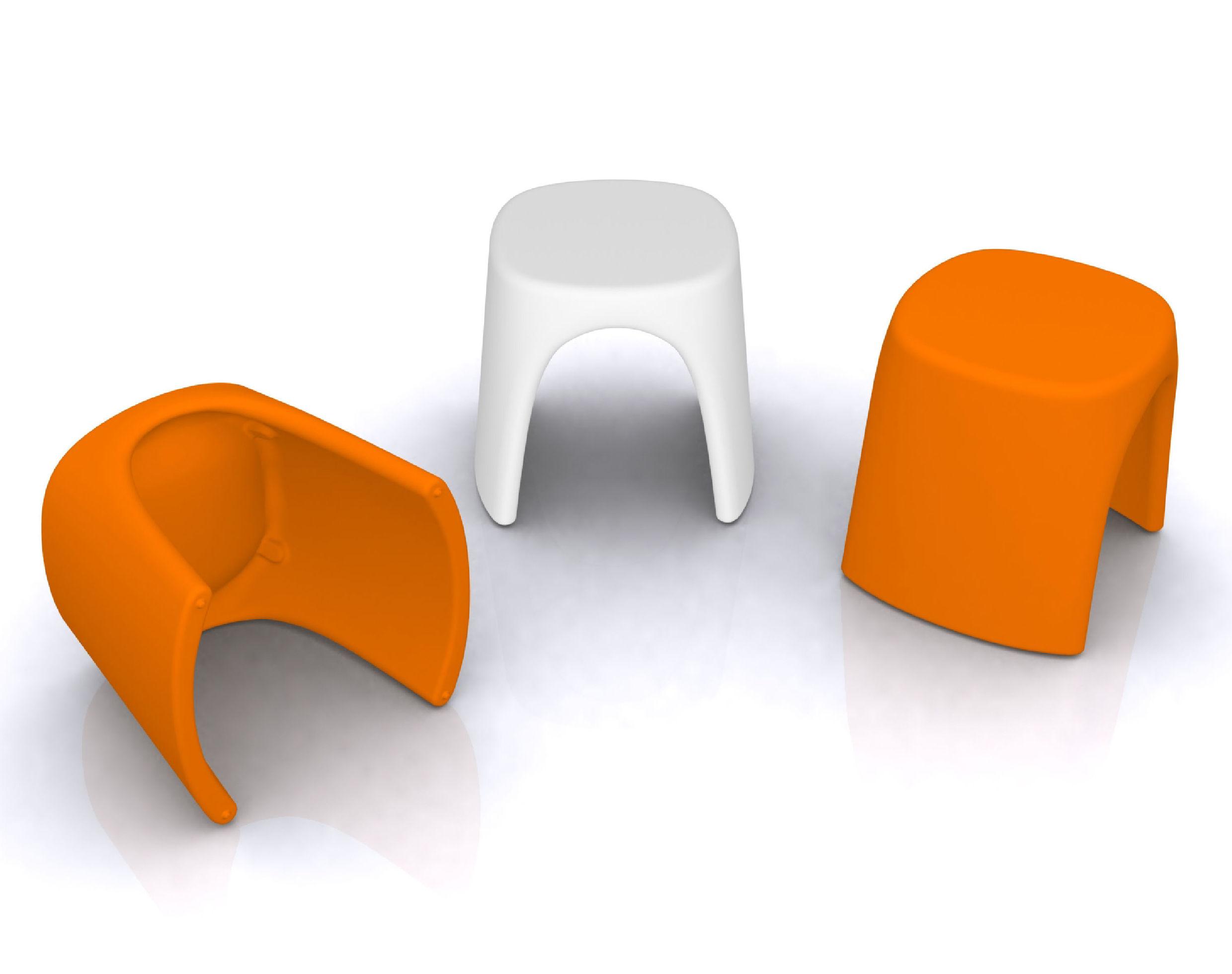 tabouret empilable am lie plastique noir slide. Black Bedroom Furniture Sets. Home Design Ideas