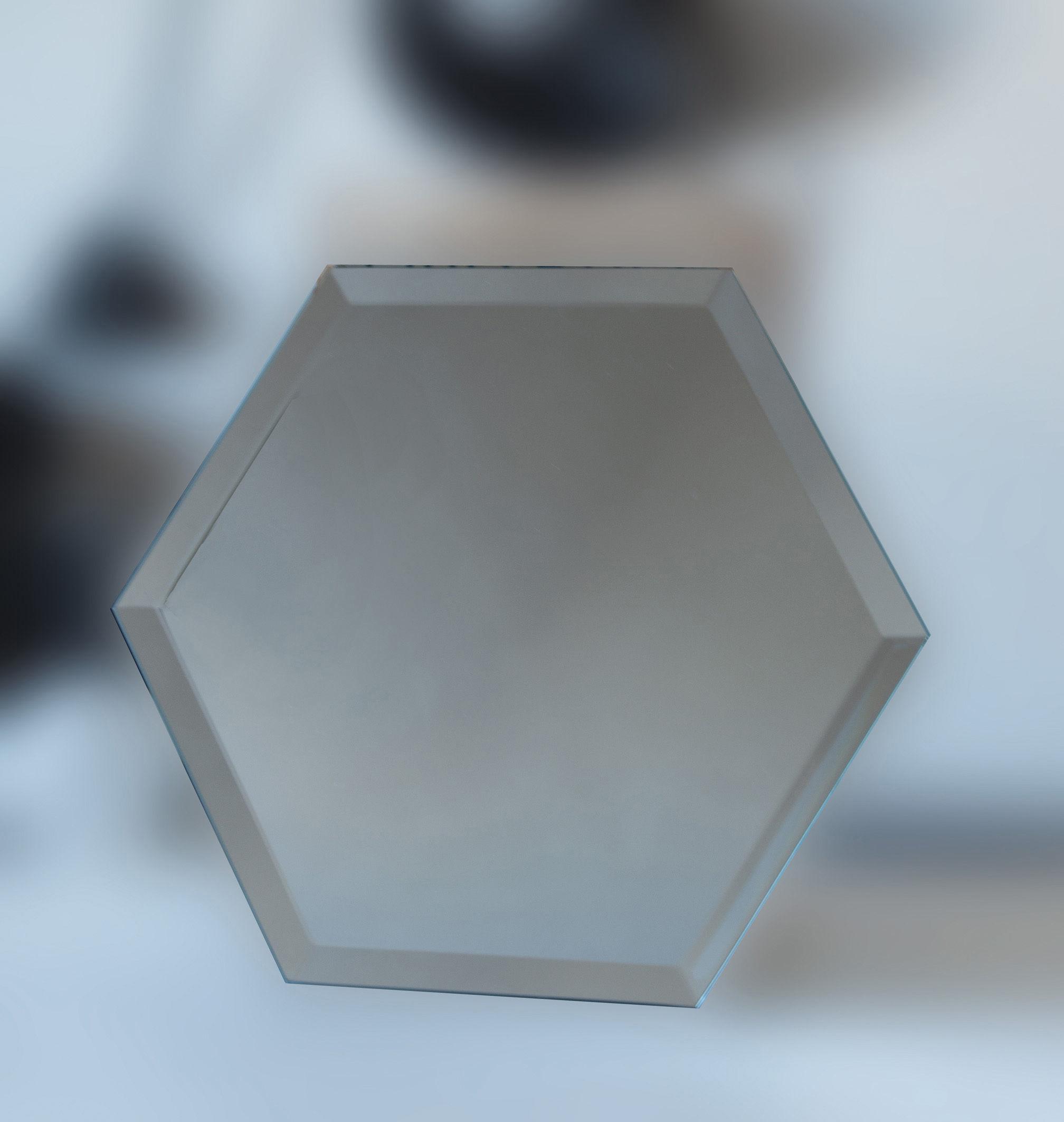 Miroir autocollant mirrorize hexagone 20x20 cm set de for Miroir autocollant