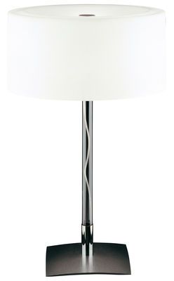 Foto Lampada da tavolo Drum di Fontana Arte - Bianco - Metallo