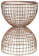 Tavolino d'appoggio Diabola Wire - / Piano d'appoggio removibile -  Ø 38 x H 45,5 cm di Pols Potten - Rame - Metallo