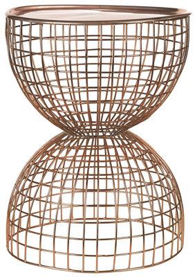 Diabola Wire Beistelltisch / abnehmbare Tischplatte - Ø 38 x H 45,5 cm - Pols Potten - Kupfer