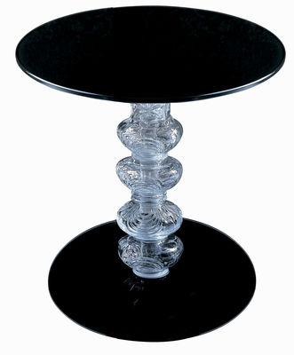 Furniture - Coffee Tables - Calice End table by Glas Italia - Height 44 cm - Black - Glass
