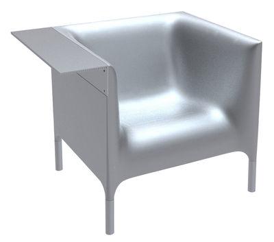 Poltrona Out-In - Versione laccata di Driade - Argento laccato - Metallo