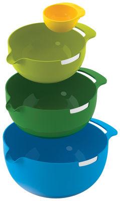 Saladier Nest Mix / Set de 3 + séparateur d´œuf - Empilables - Joseph Joseph multicolore en matière plastique
