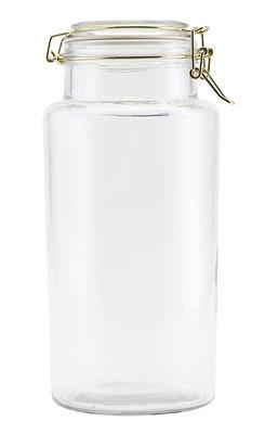 Bocal hermétique Vario 2,6 L Ø 13 x H 28 cm House Doctor or,transparent en verre