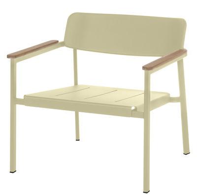 Shine Lounge Sessel - Emu - Taupe,Teak