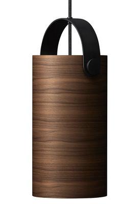 Luminaire - Suspensions - Suspension OoTW Large / Ø 16 x H 31 cm - Bois & métal - Rewired - Noyer / Noir - Métal verni, Placage de noyer