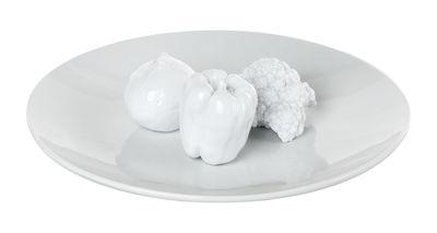 Assiette de présentation Veggie time / Légumes - Ø 40 cm - Pols Potten blanc en céramique