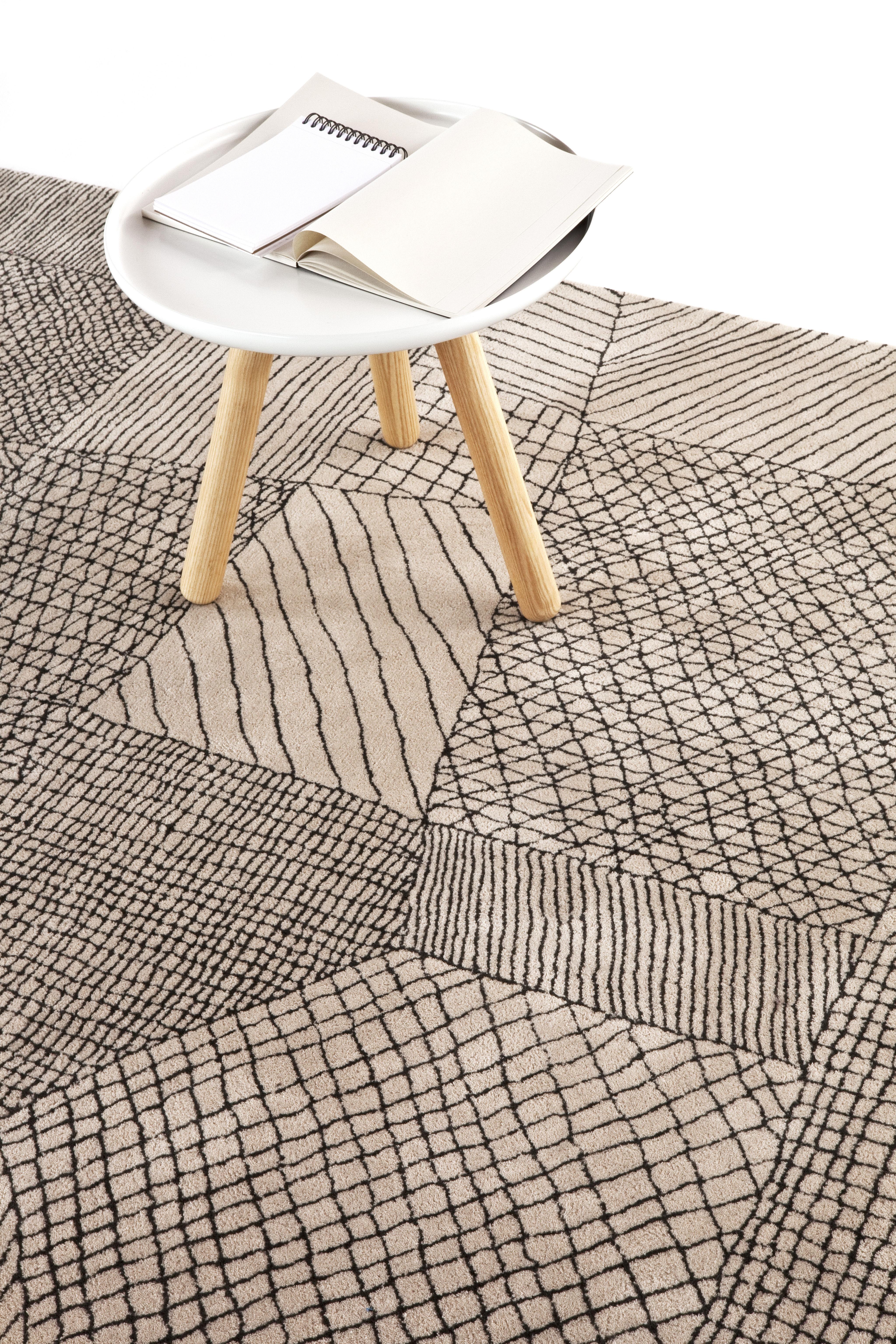 traced rug light beige by nanimarquina. Black Bedroom Furniture Sets. Home Design Ideas