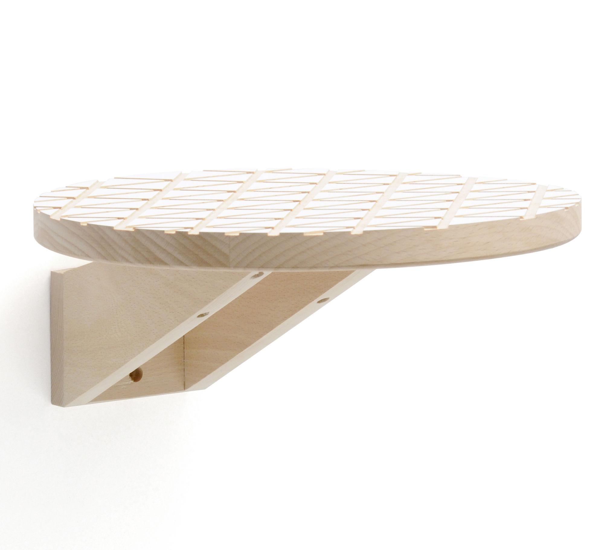 etag re marquise ronde 30 cm blanc bois naturel y 39 a pas le feu au lac. Black Bedroom Furniture Sets. Home Design Ideas