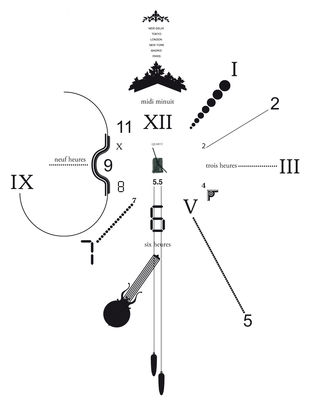 Decoration - Funny & surprising - Vynil Clock Wall clock by Domestic - Black - Vinal