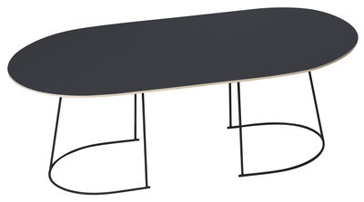 Table basse Airy / Large - 120 x 65 cm - Muuto noir en métal