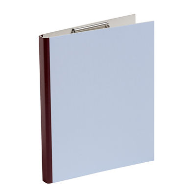 Accessoires - Accessoires bureau - Clipboard Spine / Bloc-notes con pinza - L 25 x H 31,5 cm - Hay - Bleu / Tranche aubergine - Carton, Métal