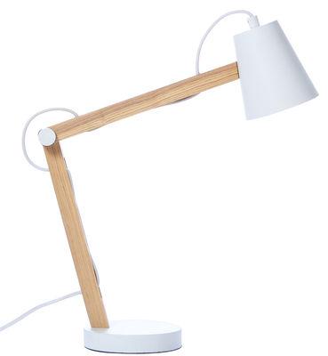 Foto Lampada da tavolo Play di Frandsen - Bianco,Legno chiaro - Metallo