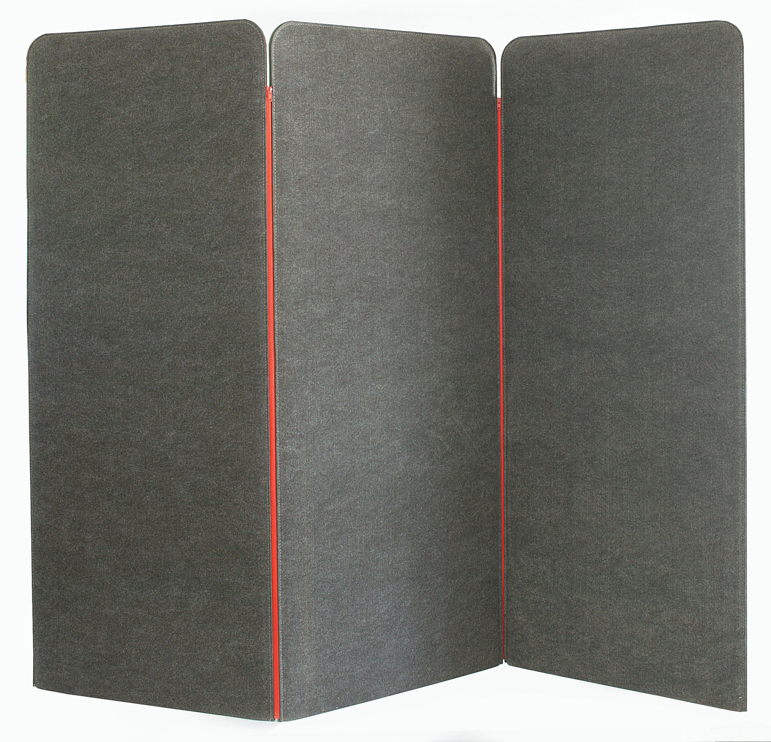 paravent buzziscreen acoustique 3 panneaux gris buzzispace. Black Bedroom Furniture Sets. Home Design Ideas