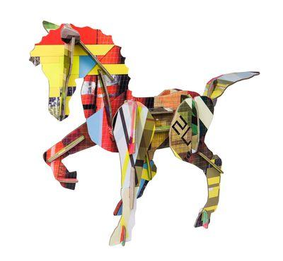 Déco - Pour les enfants - Figurine à construire Totem / Cheval - Carton - studio ROOF - Cheval / Multicolore - Carton récyclé