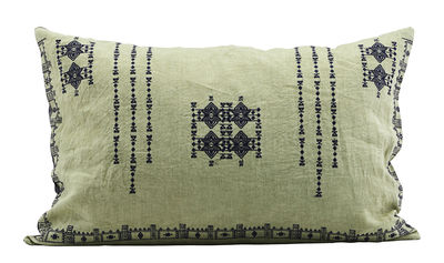Déco - Coussins - Coussin Inka / Lin - 40 x 60 cm - House Doctor - Vert - Lin, Plumes