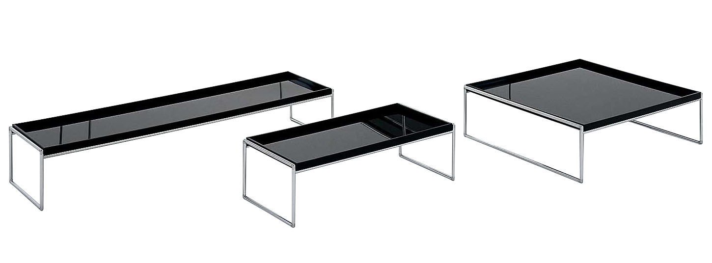 table basse trays rectangulaire 140 x 40 cm noir kartell. Black Bedroom Furniture Sets. Home Design Ideas