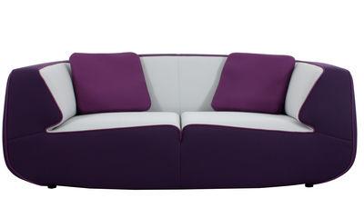 canap droit bump by ora ito 2 3 places l 198 cm violet gris perle prune passepoil. Black Bedroom Furniture Sets. Home Design Ideas