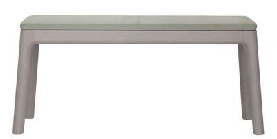 Mobilier - Bancs - Banc E8 / L 115 cm - Bois - Zeitraum - Structure chêne teinté gris froid / Assise tissu gris avec coutu - Chêne massif