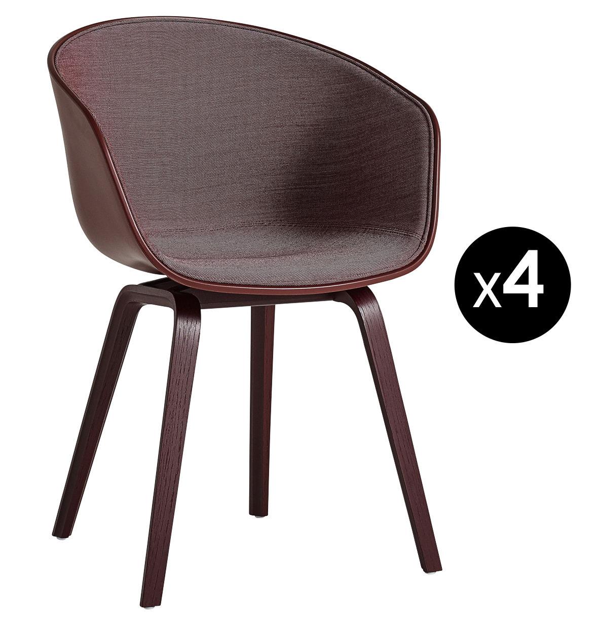 scopri poltrona imbottita about a chair aac22 bordeaux tessuto prugna struttura bordeaux di. Black Bedroom Furniture Sets. Home Design Ideas