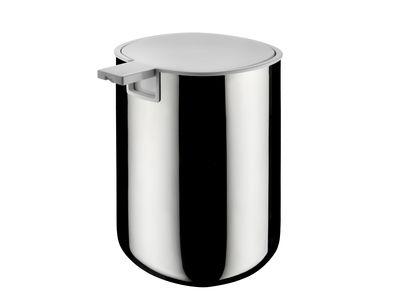 Foto Dispenser per sapone Birillo di Alessi - Bianco,Metallo lucidato - Metallo