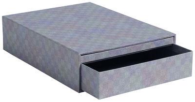 Accessoires - Accessoires bureau - Boîte Letter Box A4+ / 2 tiroirs - 33,5 x 25 cm - Hay - Vert - Carton