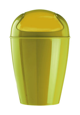Decoration - For bathroom - Del XS Bin - H 24 cm - 2 liters by Koziol - Mustard - Polypropylene