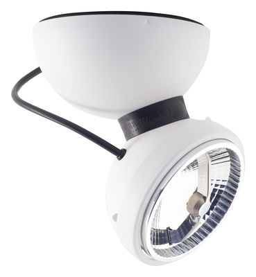 Lighting - Wall Lights - Monopro 360° LED Wall light by Azimut Industries - White - Lacquered metal