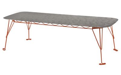 Eus Tavolo - 250 x 105 cm - Top eco-plastica Struttura arancione ...