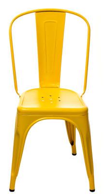 chaise empilable a acier couleur mate le corbusier jaune vif tolix. Black Bedroom Furniture Sets. Home Design Ideas