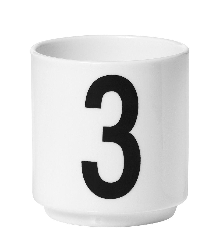 tasse espresso arne jacobsen porcelaine chiffre 3 blanc chiffre 3 design letters. Black Bedroom Furniture Sets. Home Design Ideas