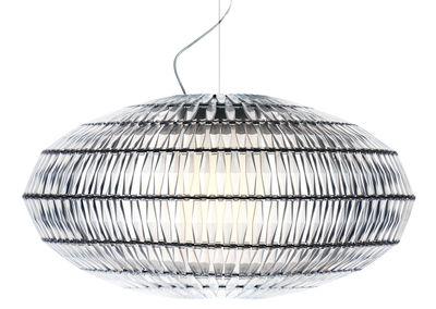 Lighting - Pendant Lighting - Tropico Ellipse Pendant - Modular by Foscarini - Transparent - Metal, Plastic material
