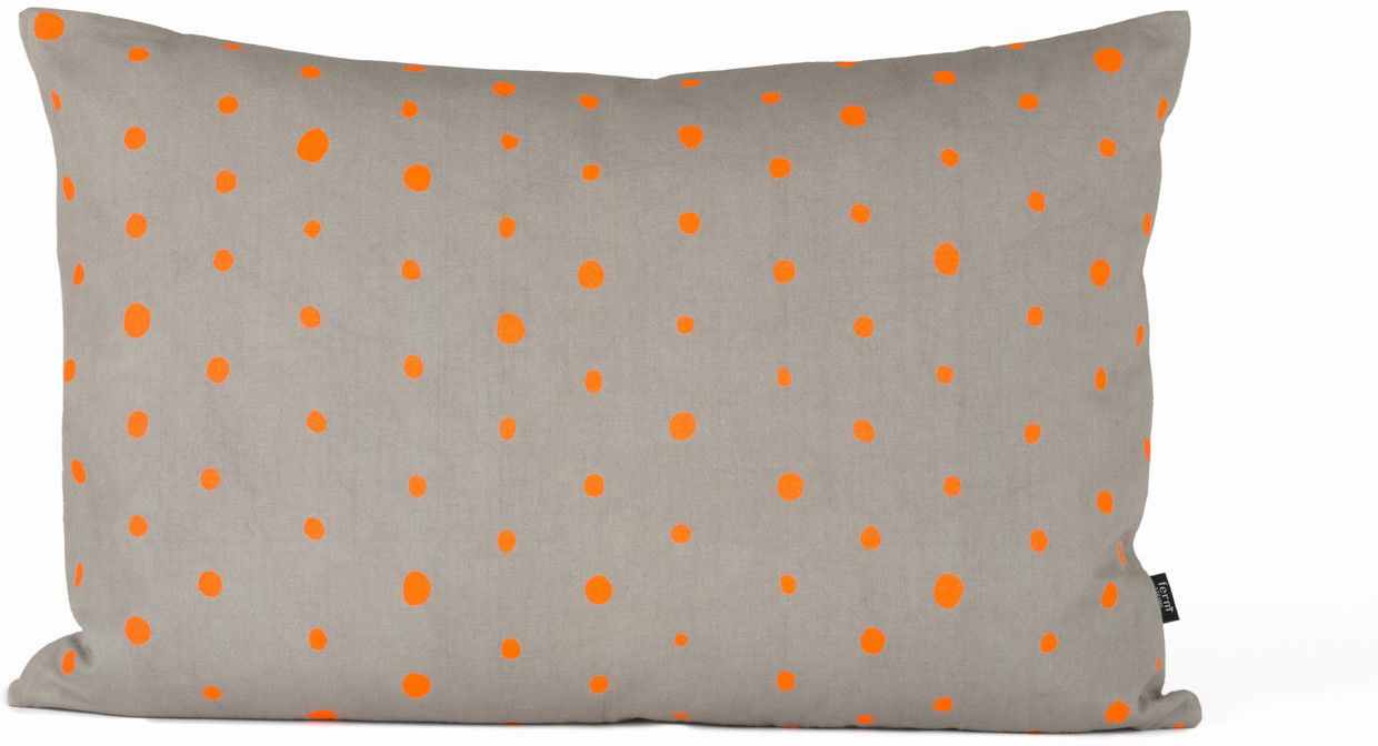 coussin dotted small 60x40 cm orange gris ferm living. Black Bedroom Furniture Sets. Home Design Ideas