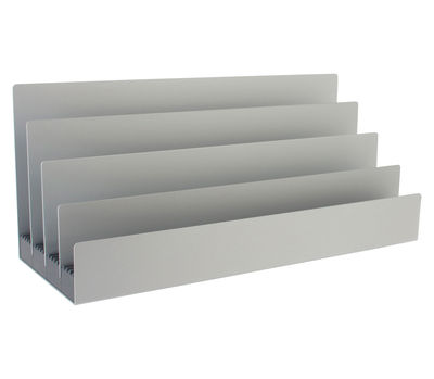 trieur courrier boxit aluminium gris lexon made in design. Black Bedroom Furniture Sets. Home Design Ideas