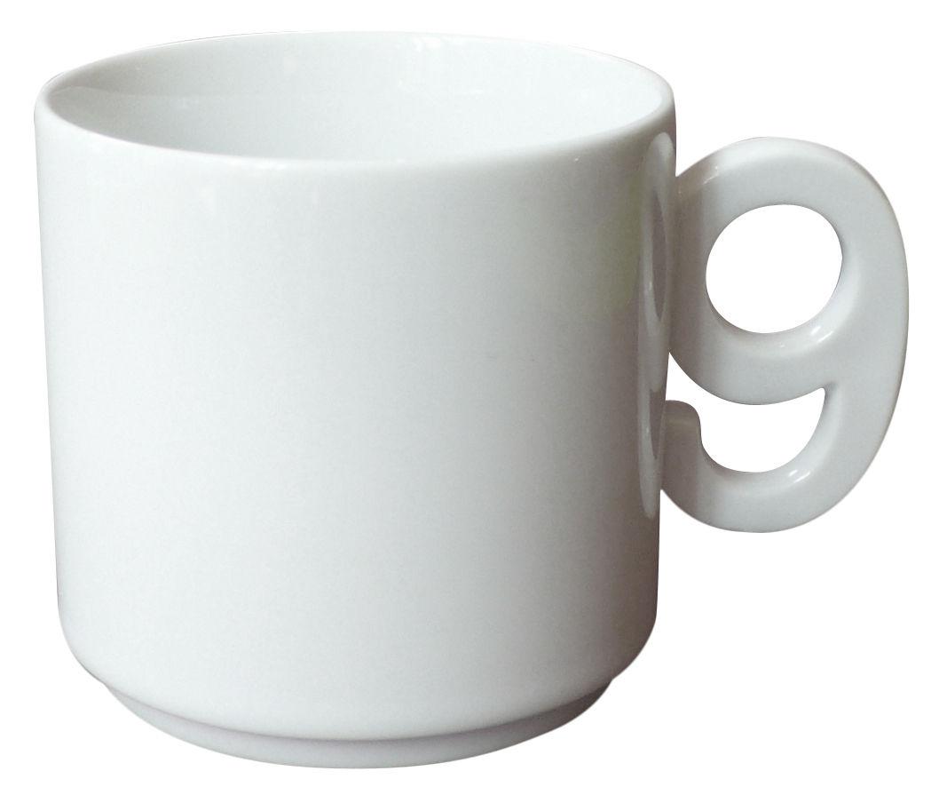 tasse caf chiffre blanc chiffre 9 pa design. Black Bedroom Furniture Sets. Home Design Ideas