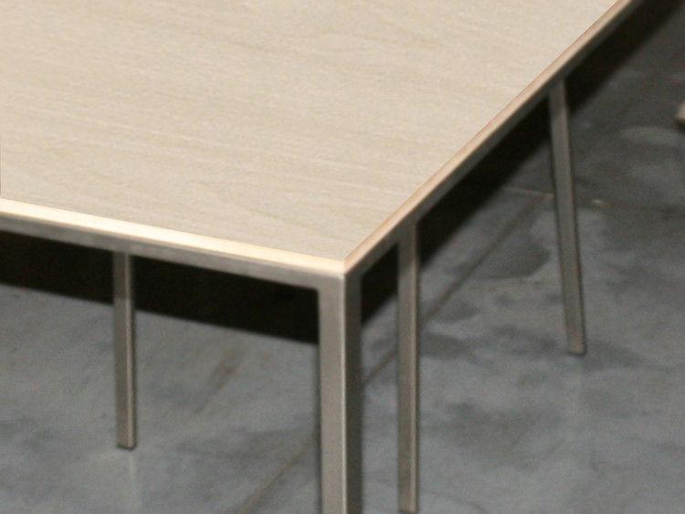 Scopri Tavolo Mini Tavolo Inox Piano Sbiancato 99 X 99 Cm Rovere Sbiancato Di Zeus Made In