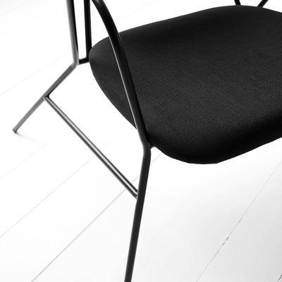 klever gepolstert stoff metall house doctor lounge sessel. Black Bedroom Furniture Sets. Home Design Ideas
