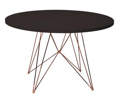 Table XZ3 / Ronde - Ø 120 cm - Magis cuivre,noir en métal