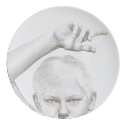 Assiette Collection Blanche / Dance - Ø 27 cm - Th Manufacture blanc en céramique