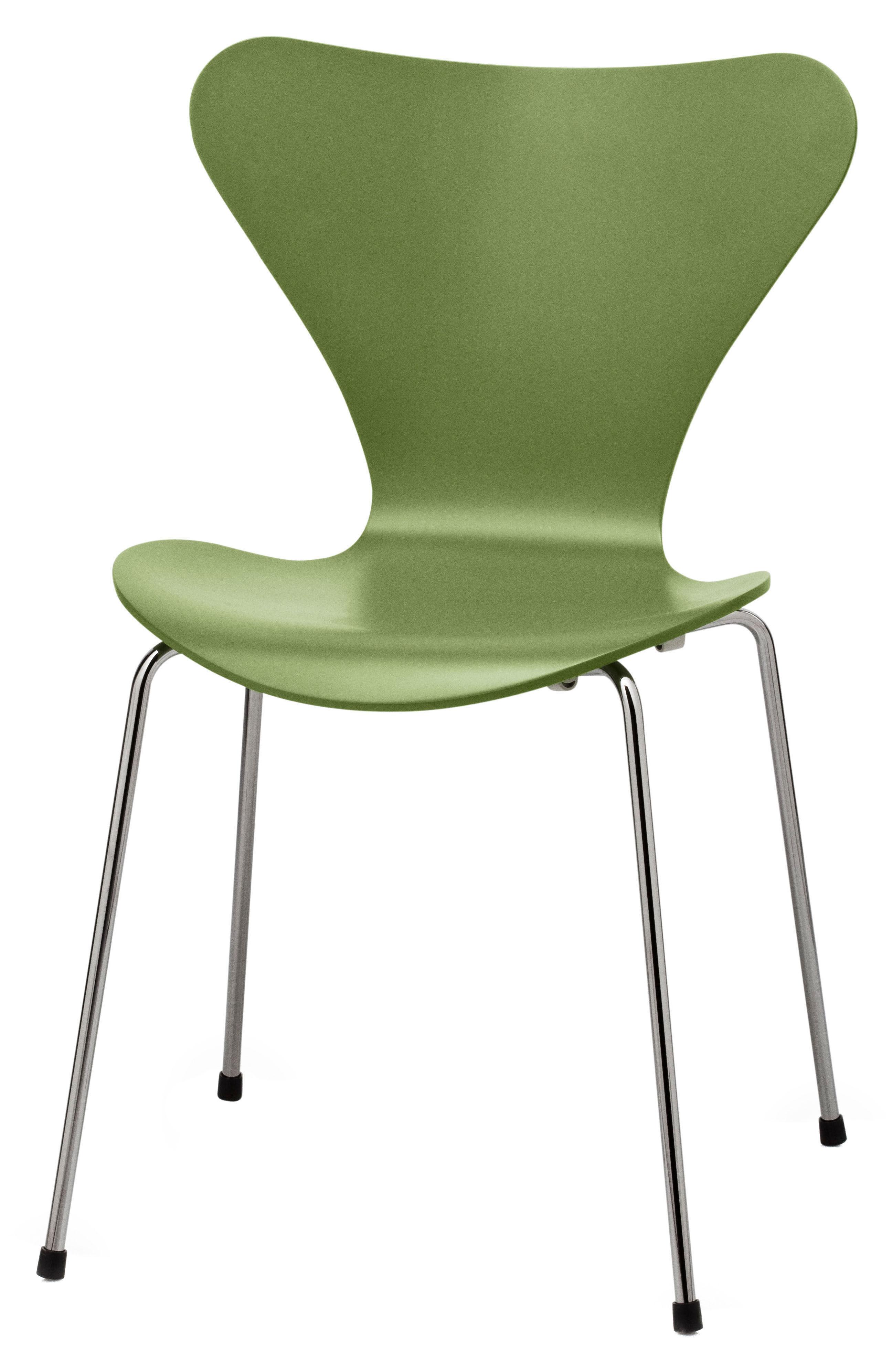 chaise empilable s rie 7 laqu e coloris exclusif vert gazon fritz hansen. Black Bedroom Furniture Sets. Home Design Ideas