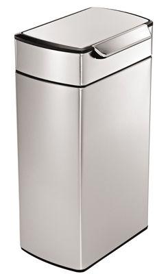 Cuisine - Poubelles de cuisine - Poubelle Touch-bar / 40L - Simple Human - Acier - 40 litres - Acier inoxydable, Polypropylène