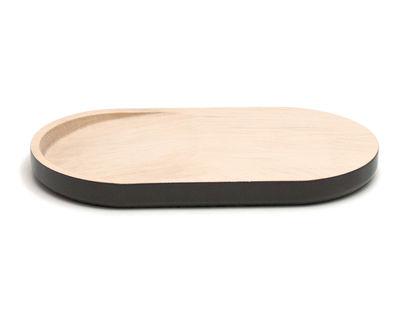 Arts de la table - Assiettes - Plateau Les Planchas - Simple / Planche à découper - L 27 cm - Y'a pas le feu au lac - Bois naturel & Gris-brun - Bois de charme