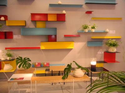 etag re utu l 50 cm jaune ext rieur noir sentou edition. Black Bedroom Furniture Sets. Home Design Ideas