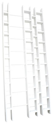 Furniture - Bookcases & Bookshelves - Hô + Bookcase - Width 96 cm by La Corbeille - White - Lacquered beechwood