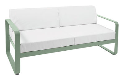 Bellevie Sofa 2-Sitzer / L 160 cm - weißer Stoff - Fermob