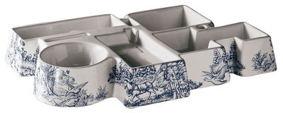 Déco - Accessoires bureau - Vide-poche The factory 33 x 22 cm - Seletti - Blanc - Porcelaine